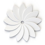 3D Abstract White Flower on White Background Royalty Free Stock Photography