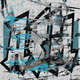 3d abstract worn graffiti on a grunge white wall. Worn graffiti on a grunge white wall Stock Images