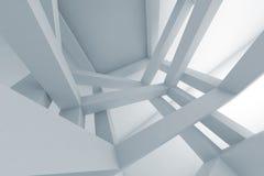 3d Abstracte achtergrond, chaotische vastgebonden bouw royalty-vrije illustratie