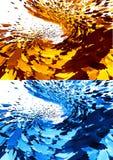 3D abstracte achtergronden royalty-vrije illustratie