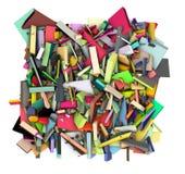 3d abstracte die vorm in de achtergrond van de regenboogkleur wordt versplinterd Stock Afbeelding