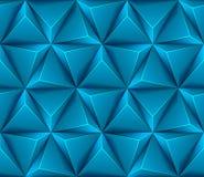 3d Abstracte naadloze achtergrond met blauwe driehoek Stock Afbeeldingen