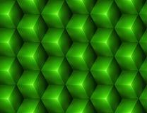 3d Abstracte naadloze achtergrond met groene kubussen Royalty-vrije Stock Afbeelding