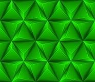 3d Abstracte naadloze achtergrond met groene triangl Royalty-vrije Stock Foto's