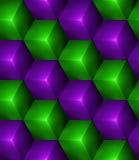 3d Abstracte naadloze achtergrond met kubussen Royalty-vrije Stock Foto