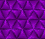 3d Abstracte naadloze achtergrond met purpere triang Stock Afbeelding