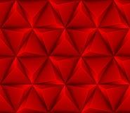 3d Abstracte naadloze achtergrond met rode driehoeken Stock Afbeelding