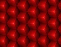 3d Abstracte naadloze achtergrond met rode kubussen Stock Foto