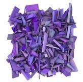 3d abstracte purpere achtergrond van het vormpatroon Stock Fotografie