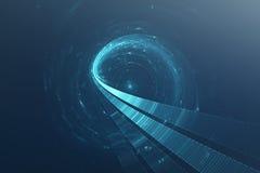 3D abstracte science fiction futuristische achtergrond Stock Afbeeldingen