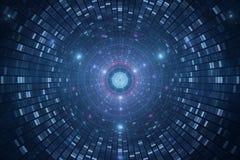 3D abstracte science fiction futuristische achtergrond Stock Fotografie
