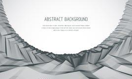 3d abstracte vectorachtergrond van de lijnkunst met geometrische lineaire ter vector illustratie