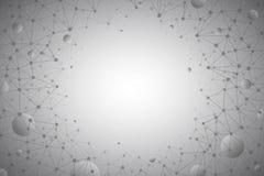 3d Abstracte Vectortechnologie Gray Background Stock Fotografie