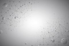 3d Abstracte Vectortechnologie Gray Background Stock Afbeelding