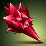 3D abstracte voorwerp van de netwerk eigentijdse stijl, heldere origami futur Stock Afbeelding