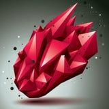 3D abstracte voorwerp van de netwerk eigentijdse stijl, heldere origami futur Royalty-vrije Stock Afbeeldingen