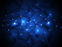 3D abstracto geométrico, poligonal, modelo del triángulo en estructura de la molécula Imagen de archivo