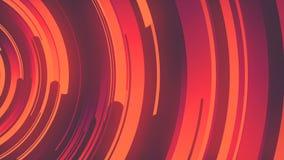 3d abstracto que rinde la composición de círculos multicolores Animación generada por ordenador del lazo Modelo geométrico 4k UHD