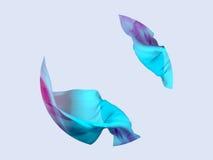 3D abstractos rinden el ejemplo Onda de la tela de seda que vuela, agitando Imagen de archivo libre de regalías