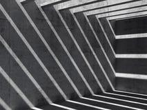 3d abstractos vacian el fondo interior concreto stock de ilustración
