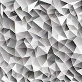 3d abstraem a Web geométrica de brilho do vetor dos cubos de gelo Foto de Stock