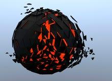 3d abstrait brisé par sphère Photo stock
