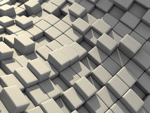 3d abstrait cube le fond de blocs Photos libres de droits