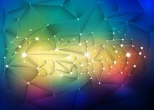 3D abstrait géométrique, polygonal, modèle de triangle en structure de molécule Illustration Stock