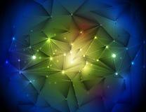 3D abstrait géométrique, polygonal, modèle de triangle en structure de molécule Photos libres de droits