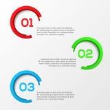 3D abstrait Infographics Photographie stock