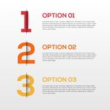 3D abstrait Infographics Photo stock