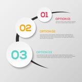 3D abstrait Infographics Image libre de droits