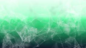 3d abstrait rendant les points et les lignes futuristes structure numérique géométrique de connexion d'ordinateur Plexus avec des Photographie stock libre de droits
