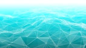 3d abstrait rendant les points et les lignes futuristes structure numérique géométrique de connexion d'ordinateur Plexus avec des Photos libres de droits