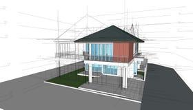 3D abstraits rendent de la fondation Idée de graphique de construction illustration stock