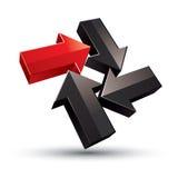 3d abstrakcjonistyczna 3d ikona strzała, wektor Ilustracja Wektor