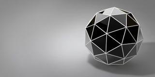 3d abstrakcjonistyczna piłka na popielatym tle Zdjęcia Stock