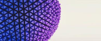 3d abstrakcjonistyczna sfera w futurystycznym stylu, sztandaru rozmiar, zawiera fotografia stock