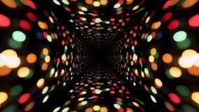 3d abstrakcjonistyczna tunelowa animacja Futurystyczny technologia projekt wideo bezszwowy lo zbiory