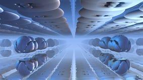 3D Abstrakcjonistyczni dziwaczni kształty na błękitnym tle Obraz Stock
