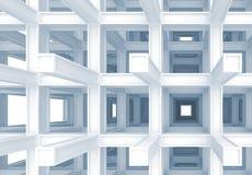 3d abstrakcjonistyczny cyfrowy tło, błękitna budowa ilustracja wektor