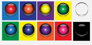 3d abstrakcjonistyczny tła piłki szkło Obrazy Stock