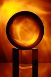 3d abstrakcjonistyczny tła piłki szkło Zdjęcia Stock