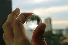 3d abstrakcjonistyczny tła piłki szkło zdjęcia royalty free