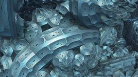 3D Abstrakcjonistyczny tło od dziwacznych kształtów Obraz Stock