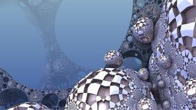 3D Abstrakcjonistyczny tło od dziwacznych kształtów Zdjęcia Stock
