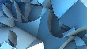 3D Abstrakcjonistyczny tło od dziwacznych kształtów Zdjęcie Royalty Free