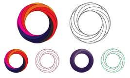 3D Abstrakt Sfera Logo Zaokrąglający Globle Kurenda Logo Szablon Nowożytny Firma loga symbolu wektor royalty ilustracja