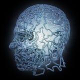 3D abstrakta głowa ilustracja wektor
