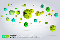 3 d abstrakta kuli Obraz Stock